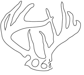 JB Logo - Single Line Antlers