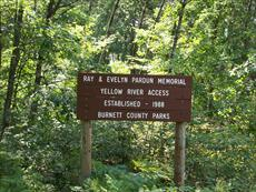 Ray and Evelyn Pardun Memorial Access Sign