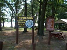 Thoreson American Legion Park Sign