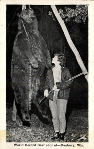 Linda Lunsman with her bear